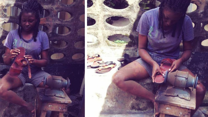Young Female Nigerian Shoemaker