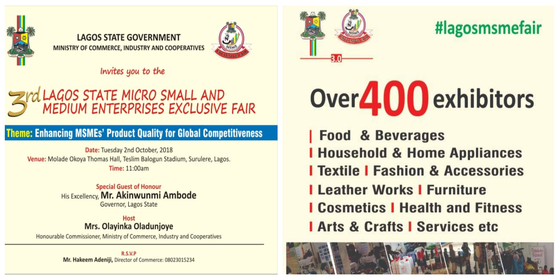 Photo of Happening in Surulere right now – 3rd Lagos MSME Fair