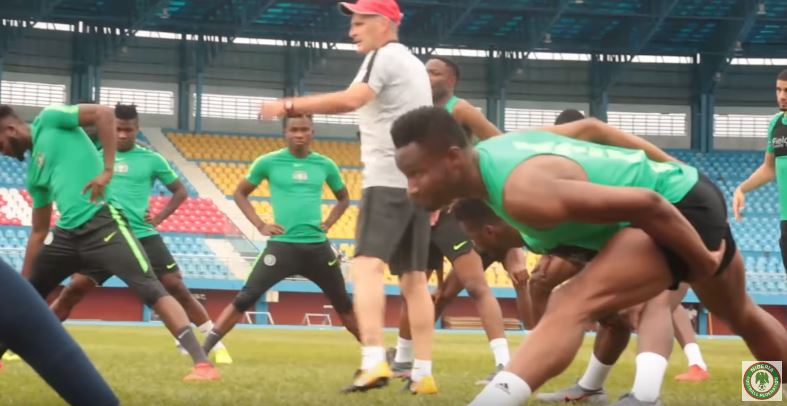 afcon 2019, super eagles training